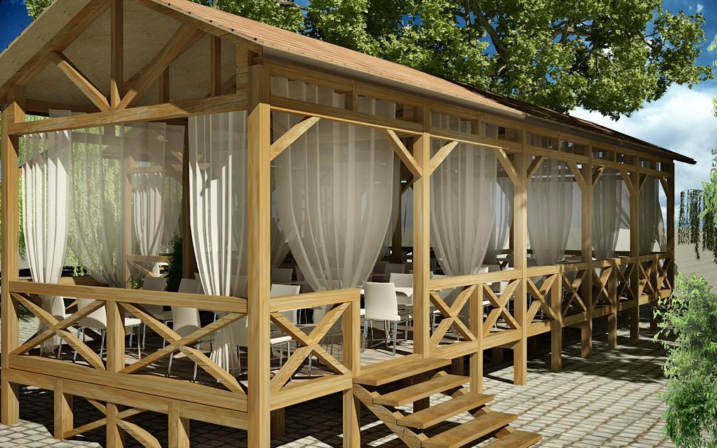 Фото дизайна летнего кафе